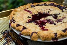 Blueberry Pie With a Cornmeal Crust Recipe - NYT Cooking Pie Recipes, Dessert Recipes, Desserts, Savarin, Juicy Fruit, Crust Recipe, Recipe Box, Baked Goods, Food Processor Recipes