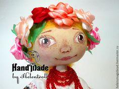 Купить Весна! - комбинированный, интерьерная кукла, народный стиль, текстильная кукла, тыквоголовка, розы, текстиль