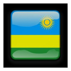 Shop Flag of Rwanda Poster created by JAMFotoWorms. Rwanda Flag, Country Signs, Political Events, National Flag, Corner Designs, Paper Napkins, Art World, Flags, Vivid Colors