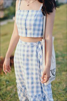 Kpop Fashion, Fashion Outfits, Fashion Women, Cute Korean Fashion, Trendy Outfits, Cute Outfits, Dress Indian Style, Dress Sewing Patterns, Blouse Designs