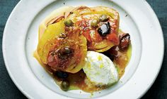Yotam Ottolenghi's braised fennel with capers and olives recipe: 'No, the 15 garlic cloves isn't a typo.' Photograph: Colin Campbell for the Guardian
