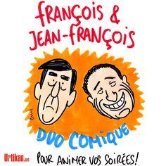 François Fillon – Jean-François Copé : le duel médiatique - Dessin du jour - Urtikan.net