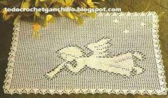 Resultado de imagen para manteles tejidos a crochet filet
