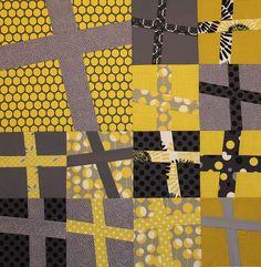 Wonky Cross quilt by flickrdeb50, via Flickr