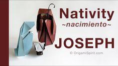 Make a Christmas Nativity -Baby Jesus :: Pesebre Navidad -Belén :Bebé - YouTub. Origami Gifts, Origami 3d, Origami Videos, Origami Folding, Useful Origami, Oragami, Origami Easy, Fabric Origami, Easy Christmas Ornaments