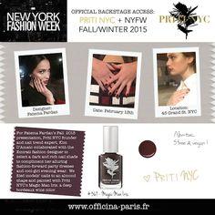 Priti NYC & Magic Man Iris à la New York Fashion Week Priti NYC backstage à la New York Fashion Week: Vernis à Ongles Magic Man Iris, un vernis prune profond, pour une manucure classe et glamour. Vernis à ongles non-toxiques, 5 free & vegan. #pritinyc #nails #fashion #tendance #bordeaux #prune #ongles #vernis #polish #nyfw #manucure #vegan #nontoxic www.officina-paris.fr