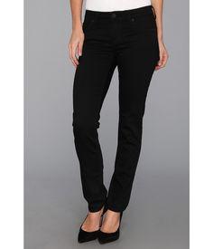 KUT from the Kloth Stevie Straight Leg in Black (Black) Women's Jeans