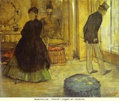 Edgar Degas. Interior with Two People (Int�rieur avec deux personnages). Olga's Gallery.