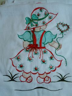 Fralda Floral Embroidery Patterns, Embroidery Tools, Hand Work Embroidery, Baby Embroidery, Hand Embroidery Stitches, Modern Embroidery, Hand Embroidery Designs, Ribbon Embroidery, Broderie Simple