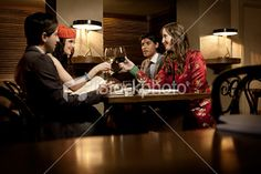 Dinner Party Royalty Free Stock Photo
