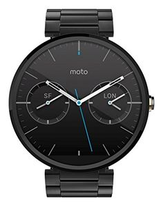 Buy Motorola Moto 360 1.56-Inch Smartwatch for Android - Dark Metal (1st Generation) Discontinued by Manufacturer NEW for 174.98 USD   Reusell