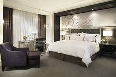 Interior Design Magazine: II BY IV Design created the spacious interiors at the new Trump International Hotel & Tower, Toronto. Toronto Hotels, Trump International Hotel, Hotel Room Design, Interior Design Magazine, Hotel Interiors, Dream Bedroom, Master Bedroom, Master Suite, Spotlights