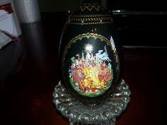Ardleigh Elliott & Sons Black Lacquer Russian Egg Ruslan and Ludmilla