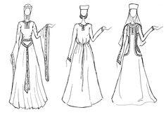 Bejís Medieval: Trajes de mujer de los siglos XII, XIII y XIV
