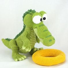 Amigurumi Crochet Pattern - Conrad the Crocodile !This listing is for a crochet pattern and not a finished item! Conrad the Crocodile Crochet Amigurumi, Amigurumi Patterns, Amigurumi Doll, Crochet Dolls, Knit Crochet, Crochet Patterns, Half Double Crochet, Single Crochet, Diy Y Manualidades