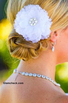 Hairstyle for Wedding Pairing Floral Accessories with Chignon Flower Hairstyles, Beach Hairstyles, Wedding Hairstyles, Cool Hairstyles, Floral Wedding, Wedding Day, Peek A Boos, Flowers In Hair, Getting Married