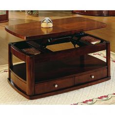 Woodbridge Home Designs 3267 Series Wedge Lift Top Cocktail Table - 3267-30r (r)