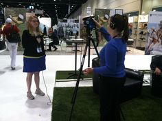 PlanMyTournament.com President @Ashley Backhus being interviewed by @PGA Golf Shows at the #pgashow.