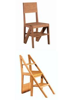 Morelato, sedia e scala salvaspazio - Mobili salvaspazio: idee di design per case piccole - Zero è una comoda sedia in legno massello realizzata da Morelato, azienda nata come laboratorio artigianale nella seconda metà del secolo scorso e affermata...