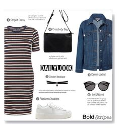 """""""Bold Stripes"""" by brccz ❤ liked on Polyvore featuring Dorothy Perkins, Sans Souci, Fallon, Yves Saint Laurent and BoldStripes"""