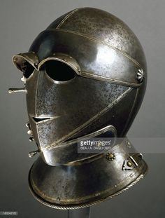 Stock Photo : Savoy horserider helmet in burnished steel, made in Northern Italy, circa 1620, Italy, 17th century