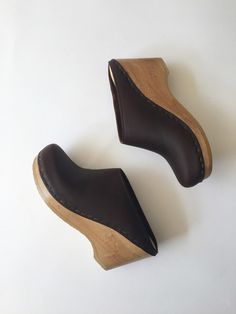 No. 6 New School Clog on Wedge - Molasses