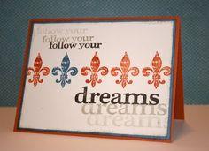 """Karen Pedersen: Masculine Card: """"Follow Your Dreams"""""""