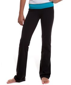 Black & Peacock Straight Up Pants - Girls by ivivva athletica by lululemon on #zulily today! (I'm trying out the lululemon kids line since the xxs smalls at Lululemon are too large and too long).