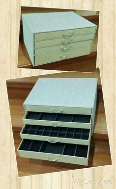 Jewelry Organizer with 4 drawers Organizador de joyas con 4 cajones