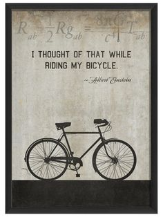 Bicycle by Einstein (White) by Artwork Enclosed on Gilt Home