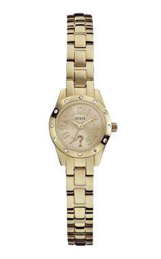 Modell W0307L2, eine grazile und elegante Armband-Uhr. Eine beliebte Uhr von Guess, die wir gerne für Sie gravieren.