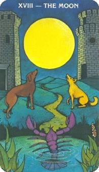 April 7 Tarot Card: The Moon! (Morgan-Greer deck) Use this opportunity to explore your inner self
