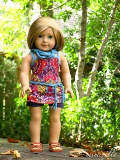 Kaleidoscope an outfit for 18 inch dolls {by mimiville on Etsy}