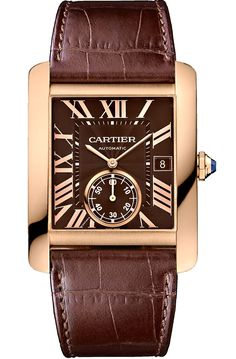Buy this authentic Cartier Tank MC Large Model Pink Gold Case Brown Dial Alligator Leather Strap Mens Automatic Watch Best Watches For Men, Automatic Watches For Men, Vintage Watches For Men, Fine Watches, Cool Watches, Popular Watches, Casual Watches, Men's Watches, Cartier Tank Mc