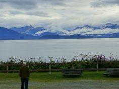 Homer, Alaska.  View of Katmai Peninsula and the Cook Inlet