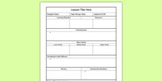 The Hidden Agenda Of Primary School Lesson Plan Template Uk Daily Lesson Plan, Teacher Lesson Plans, Free Lesson Plans, Resource Teacher, Blank Lesson Plan Template, Individual Education Plan, Hidden Agenda, School Lessons, Simple
