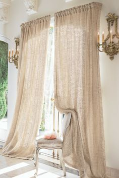 Love these and want them for my living room:  Raw Silk Woven Drapery Panel - Tonal Cotton Muslin Lining | Soft Surroundings