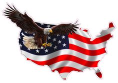 Nostalgia Decals American Eagle United States Magnet Decal Version 1 is in in Size. American Flag Pictures, Patriotic Pictures, Eagle Pictures, Holiday Pictures, American Flag Decal, American Flag Eagle, Tabernacle Of David, Respect The Flag, Pray For America