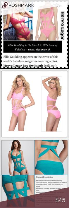 🆕HERVE LEGER Boe strappy cutout bandage swimsuit Beautiful, sexy Herve Leger Pink bandage swimsuit. Description in photos. Comes without tags & straight from the cleaners. I had the seamstress reinforce the neck & back straps. MSRP new runs up to $700 Selling for a friend who basically tried it on, took off the tags & then wound up pregnant before wearing. There's one small nick in one back strap from removing the tags which is also being repaired. Picking up from cleaners Fri. & I'll post…