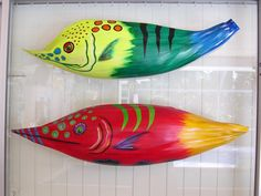 Tropical Fish Big Fat Red Fish Palm Seed Pod over by roseartworks, $195.00