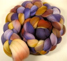 Golden Plum Merino Wool Top for spinning and felting by yarnwench, $17.85