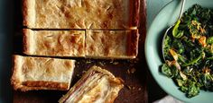 Cheese-Potato Slab Pie by Food Network Kitchen Creamed Potatoes, Cheese Potatoes, Food Network Recipes, Food Processor Recipes, Slab Pie, White Cheddar Cheese, Apple Bread, Thing 1, Cheese Bread