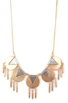 Tribal Necklace: Gold & Silver