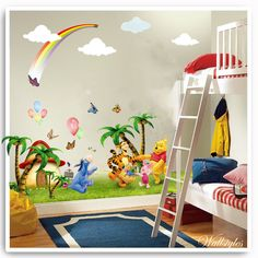 Winnie The Pooh Tree Wall Sticker. reflect the actual size of the stickers and as the stickers are transparent. Sheet 2 Sheet size: 90cm x 60cm Winnie the pooh & Friends. High Quality, Transparent ,removeable & reusable wall stickers. | eBay!