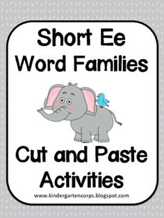 CVC Words : Short E Word Families - Students use letter tiles to spell out (or segment) the sounds in short vowel words. Makes for great practice for students transitioning from beginning sound identification toward segmenting all 3 sounds in a word.