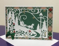 Cottage Cutz scene All Holidays, Christmas Holidays, Xmas, Holiday Cards, Christmas Cards, Shabby Chic Cards, Christmas Catalogs, Die Cut Cards, Stampin Up Christmas