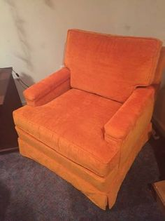 60s/70s Vintage Orange Chair - $125 (Wilmington, DE)