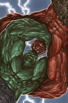 #Hulk #Fan #Art. (Hulk vs. Hulk) By:PatC-14. ÅWESOMENESS!!!™ ÅÅÅ+