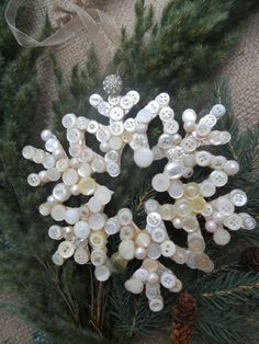 Snowflake made with buttons