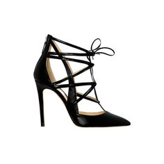 Alejandro Ingelmo Boomerang (21 115 ZAR) ❤ liked on Polyvore featuring shoes, pumps, heels, sapatos, sandals, black calf leather, black leather pumps, leather pumps, black heel pumps and leather pointed toe pumps